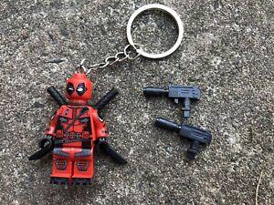 Marvel Deadpool Keyring Keychain Minifigure UK SELLER