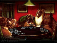 Dogs Playing Magic - full color poster