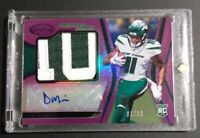 2020 PANINI CERTIFIED RC 2 CLR PATCH AUTO 1ST ONE 1/10 DENZEL MIMS NEW YORK JETS