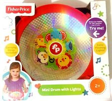 Fisher Price Mini Drum With Lights,Carrying Strap, Pair Of Drumsticks Age 2+ NEW