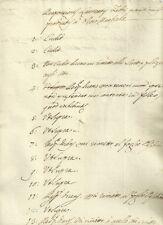 Antico Documento Manoscritto Settecentesco 1713