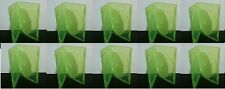 10 OEM Official Microsoft Green Double DVD CD Game Case for XBOX 360 w/ Sleeve