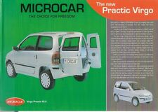 Microcar Practic Virgo c 2003 UK Market Leaflet Sales Brochure GSE GLX
