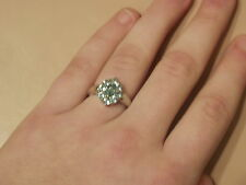 Paraiba Apatite 9-Stone Ring in Platinum Overlay Sterling Silver- Size 7 NWT