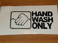 HAND WASH ONLY FUNNY VINYL CAR STICKER cleaning detailing ocd clean otb