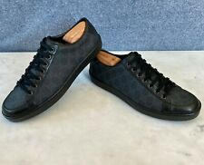 Gucci Men's GG Supreme Black Sneakers Size 9 G = 10 US *Authentic*