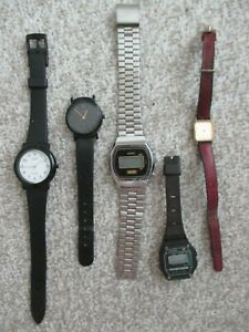 Job Lot Of 5 Watches. Casio Quartz. Zeon Digital. Wem Digital. Non Running. BH/C
