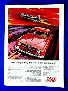 1966 Saab  JET Usually Bought On Ground Original Print Ad 8.5 x 11""