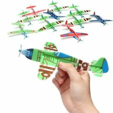 12Pcs Polystyrene Flying Glider Planes Helicopter Fillers Party Boy Kid Game Toy
