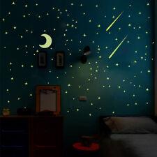 103PCS Kids Bedroom Fluorescent Glow In The Dark Stars Moon Wall Stickers