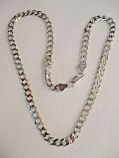 VINTAGE SOLID STERLING SILVER ITALY LINK CHAIN NECKLACE 925 PURE