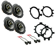 "NEW PIONEER 6.5"" 2-WAY D-SERIES COAXIAL FRONT & BACK DOOR SPEAKERS W/ MOUNTS"