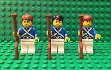 LEGO 3 Revolutionary Soldiers with Muskets - NEW! Collectible Minifigs (41058f)