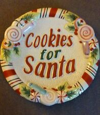 "Fitz and Floyd Santa Plate ""Candy Christmas"" Cookies for Santa"