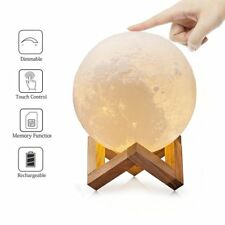 Moon Lamp 3D Printing USB LED Moonlight Luna Night Light Dimmable Touch Sensor