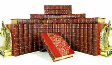 1892 COMPLETE WORKS OF THOMAS CARLYLE 26 VOLS ANTIQUE LEATHER BOOKS LTD #30/100