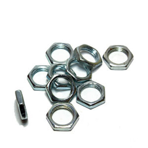 M10 x 1mm Pitch Low Profile Hexagon Zinc Plated Nuts to fit All-thread Nipples