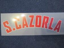 S Cazorla Arsenal 2012-2013 Liga de Campeones Away camiseta de fútbol del nombre sólo Set