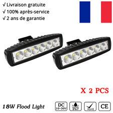 2x 18W barre LED phare de travail spot à moto quad hors route 12V feux Conduite