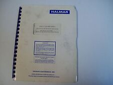 Halmar Electronics 020387 Series 3Z Scr Power Controls Service Manual- Free Ship