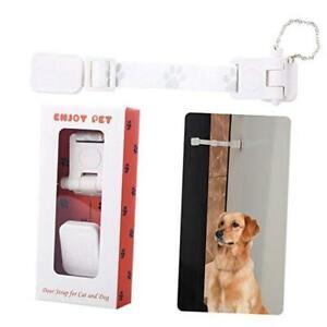 Adjustable Door Strap and Latch. Cat Door for Interior Door. Dog Proof Litter