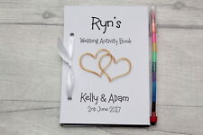 Childrens Personalised A6 Wedding Activity Book Favour Gift Party Bag Pack