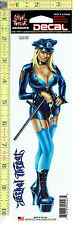 Police Girl Cop Babe Window Decal Sticker for Car/Truck/Motorcycle/Laptop 426