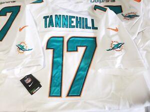 Nike ELITE Miami Dolphins Stitched Jersey RYAN TANNEHILL Sz L 599967-101 Sz 44