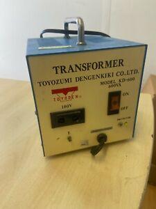 TOYOZUMI DENGENKIKI TOYODEN TRANSFORMER KD-600