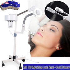 3X Magnifying Led Lamp Stand Facial Steamer Spray Beauty Salon Spa Machine AU