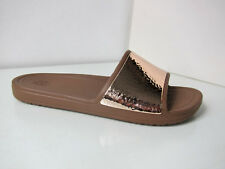 Crocs sloane slide Sandale rose gold W 6  36 37 sandals shoes embellished bronze