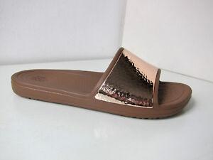 Crocs sloane slide Sandale rose gold W 9 39 40 sandals shoes embellished bronze