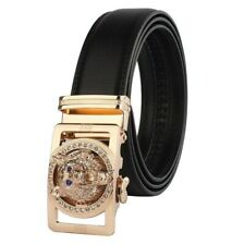 Wolf Diamond Men's Automatic Buckle Designer Belt for Men & Women Luxury Leather
