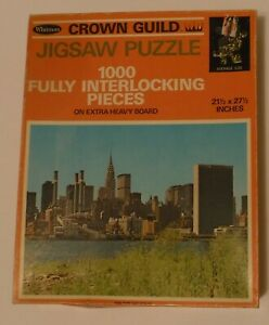 Whitman Crown Guild 1000 piece jigsaw puzzle New York Skyline Sealed in Box