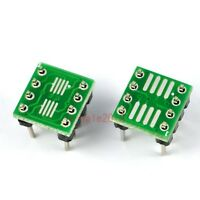 5x SOP8 SO8 SOIC8 TSSOP8 MSOP8 to DIP8 Adapter PCB Conveter Board+Pin Header 239