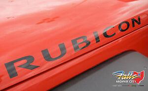 2007-2018 Jeep Wrangler JK Black RUBICON Decal Sticker Mopar OEM