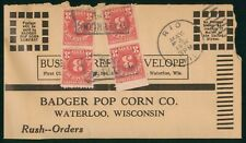 Mayfairstamps Us 1936 Rio to Badger Pop Corn Waterloo Cover wwp_37405