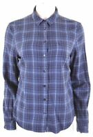 JACK WILLS Womens Shirt UK 12 Medium Blue Check Cotton Classic Fit  AO13