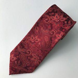 Ermenegildo Zegna - Burgundy maroon paisley silk tie