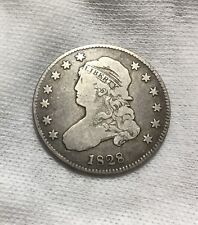 1828 Capped Bust Quarter - F/VF - SCARCE DATE ~ INV#6725