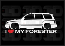 I Heart My Forester Sticker Love Subaru Slammed JDM Japan SF Boxer Wagon 2.5T