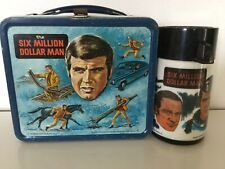 SIX MILLION DOLLAR MAN LUNCHBOX AND THERMOS GOOD CONDITION