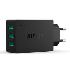 AUKEY Cargador USB de Pared con 3 Puertos USB 30W / 6A con Tecnología AiPower Un