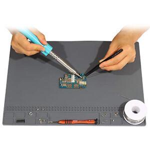 Anti Static Mat Heat Insulation Magnetic Silicone Pad Desk Solder Repair Desk CA