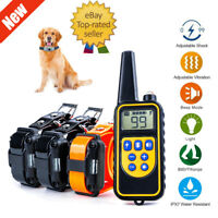 875 Yard Dog Shock Collar Remote Waterproof IP67 Electric For Large Pet Training