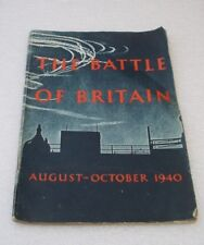 HMSO THE BATTLE OF BRITAIN AUGUST-OCTOBER 1940 BOOKLET