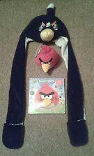 Angry Birds Gorro Bufanda Guantes Redecilla Peluche libro marioneta de mano Rescate De Pájaro Rojo Nuevo