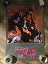 Rare New Kids On The Block 1990 Vintage Original Music Poster Rolled/Wrapped
