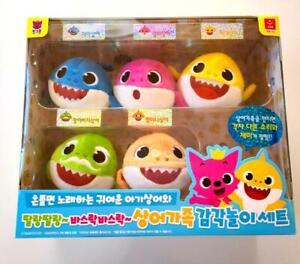 PinkFong Baby Shark  Soft and Rustle Sensory Play Sound Doll Set 3 Korean Songs
