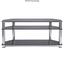 Corner TV Stand for 32-55 Inch LCD LED Flat Screen TV and Silver Stainless Tubes